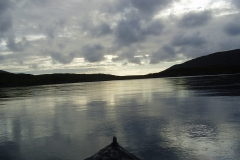Approaching the narrows after a fishing trip