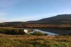 Road and bridge to North Locheynort from South Locheynort