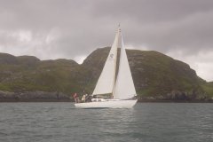 Donald's sons sailing in the Outer Loch, Loch Eynort