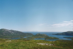 View of the narrows, outer loch and hills of Rhum
