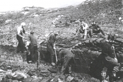 Cutting peat in North Glendale, South Uist