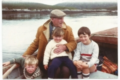 Donald with 3 of his grandchildren on his last boat trip